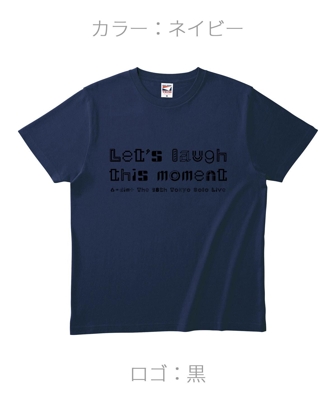 ロクディム|単独公演Tシャツ受注生産|カラー:ネイビー/ロゴ:黒