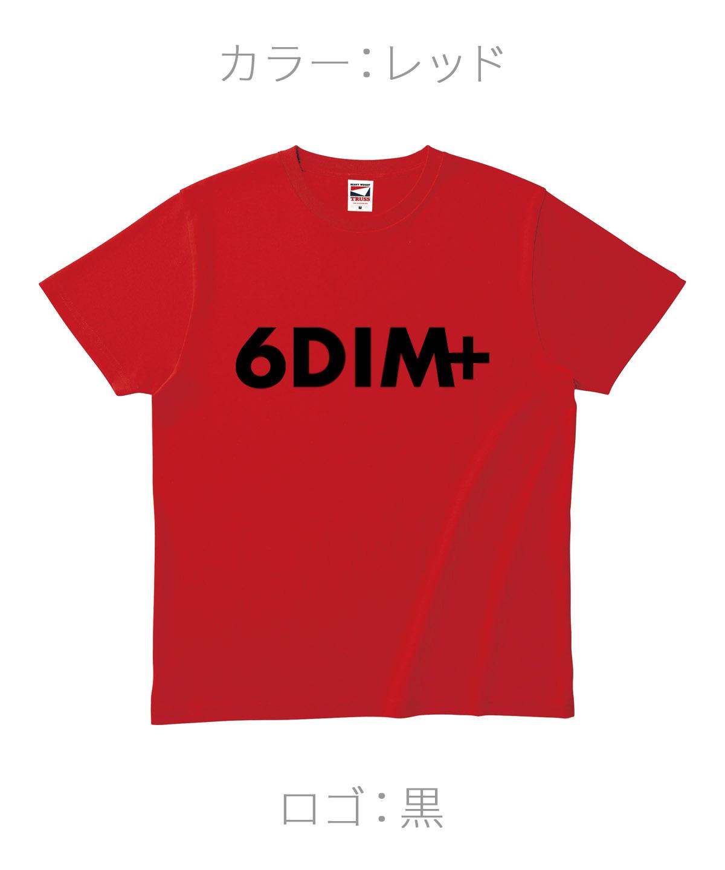 ロクディム|NEW Tシャツ受注生産|カラー:レッド/ロゴ:黒