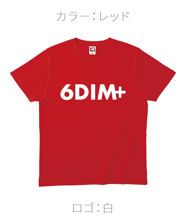 ロクディム|NEW Tシャツ受注生産|カラー:レッド/ロゴ:白