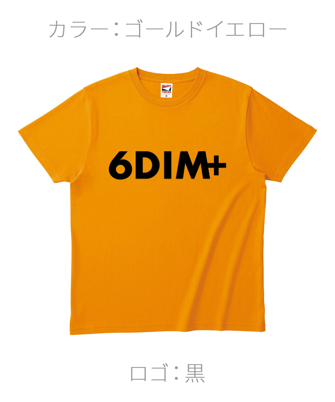 ロクディム|NEW Tシャツ受注生産|カラー:ゴールドイエロー/ロゴ:黒