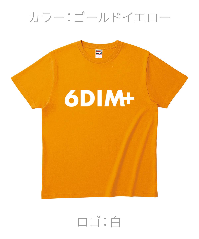 ロクディム|NEW Tシャツ受注生産|カラー:ゴールドイエロー/ロゴ:白