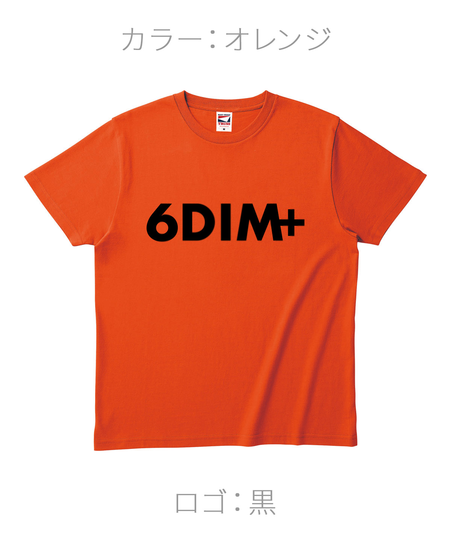 ロクディム|NEW Tシャツ受注生産|カラー:オレンジ/ロゴ:黒