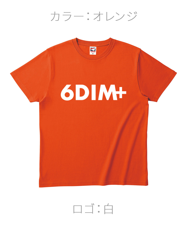 ロクディム|NEW Tシャツ受注生産|カラー:オレンジ/ロゴ:白