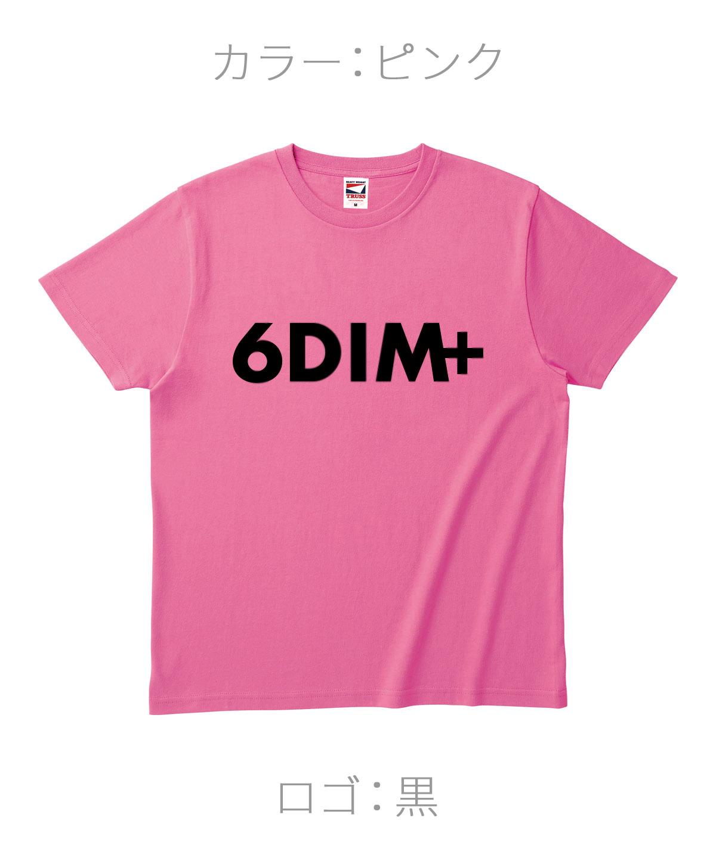 ロクディム|NEW Tシャツ受注生産|カラー:ピンク/ロゴ:黒