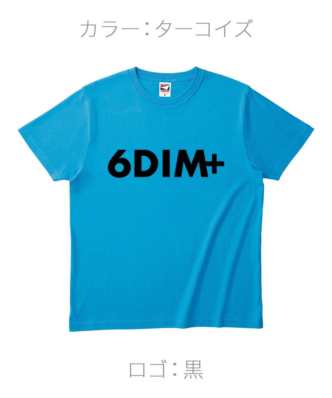 ロクディム|NEW Tシャツ受注生産|カラー:ターコイズ/ロゴ:黒