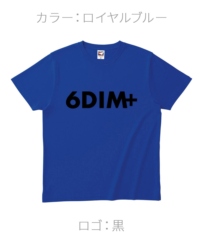 ロクディム|NEW Tシャツ受注生産|カラー:ロイヤルブルー/ロゴ:黒