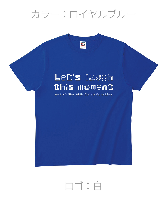 ロクディム|単独公演Tシャツ受注生産|カラー:ロイヤルブルー/ロゴ:白