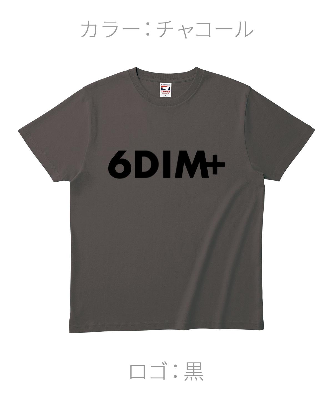 ロクディム|NEW Tシャツ受注生産|カラー:チャコール/ロゴ:黒