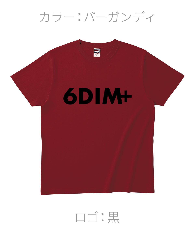 ロクディム|NEW Tシャツ受注生産|カラー:バーガンディ/ロゴ:黒