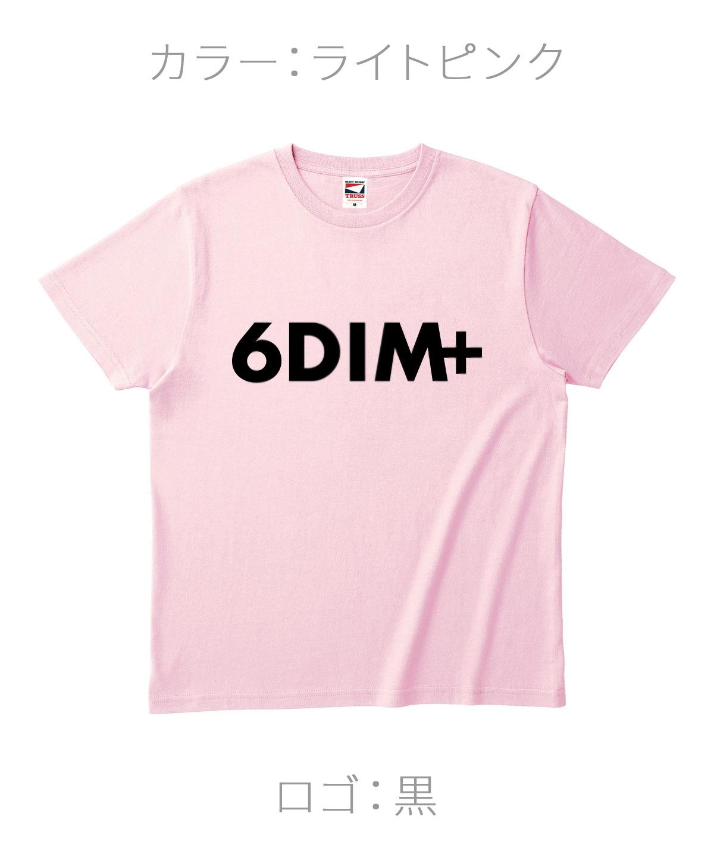ロクディム|NEW Tシャツ受注生産|カラー:ライトピンク/ロゴ:黒