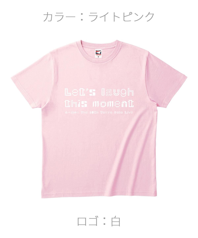 ロクディム|単独公演Tシャツ受注生産|カラー:ライトピンク/ロゴ:白