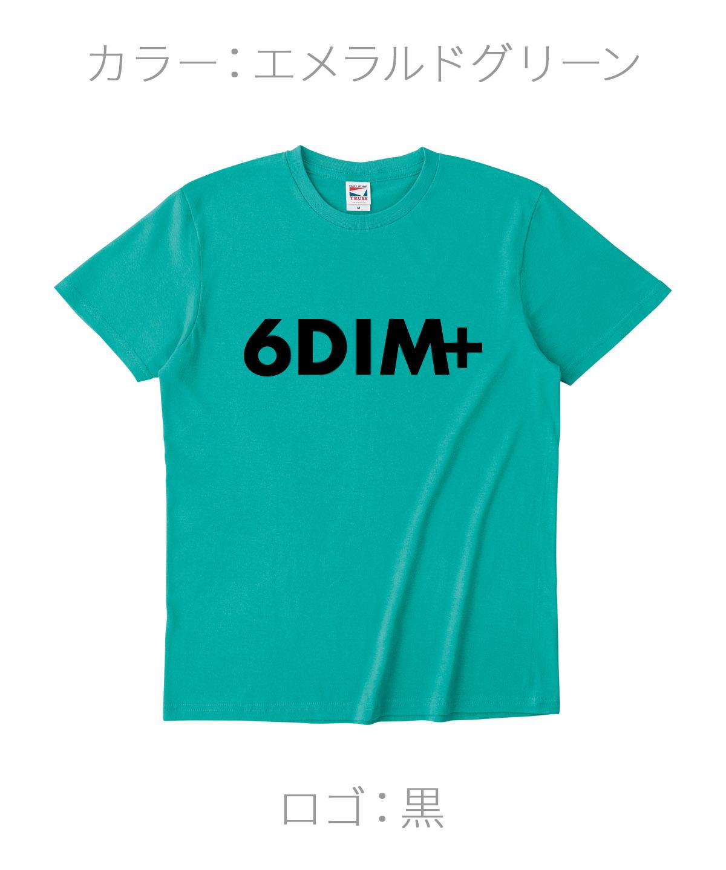 ロクディム|NEW Tシャツ受注生産|カラー:エメラルドグリーン/ロゴ:黒