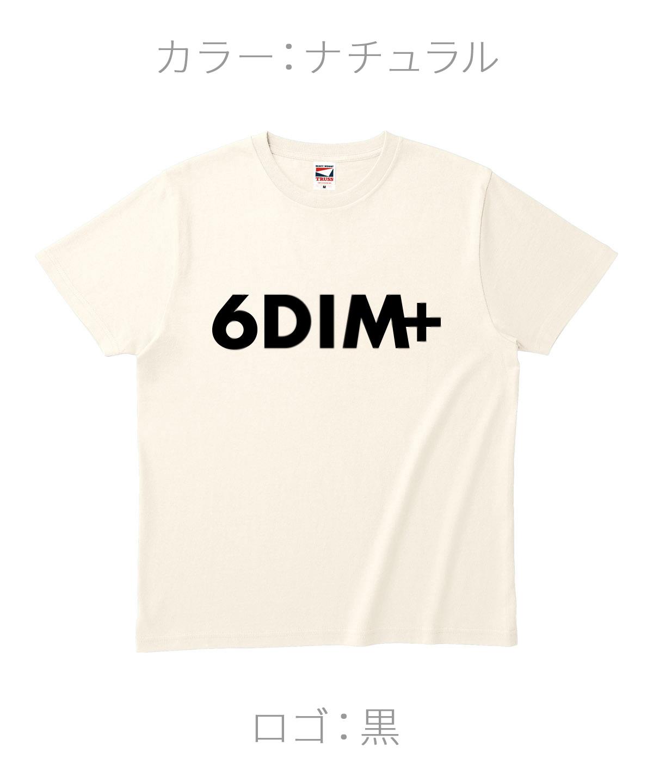 ロクディム|NEW Tシャツ受注生産|カラー:ナチュラル/ロゴ:黒