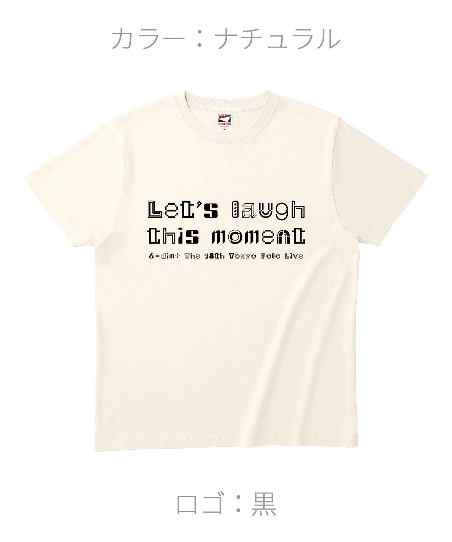 ロクディム|単独公演Tシャツ受注生産|カラー:ナチュラル/ロゴ:黒