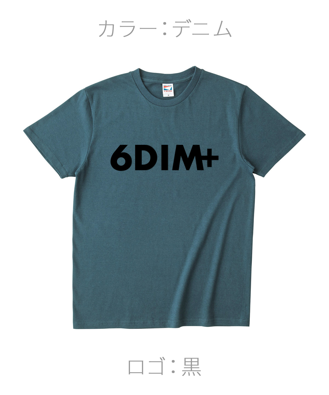 ロクディム|NEW Tシャツ受注生産|カラー:デニム/ロゴ:黒