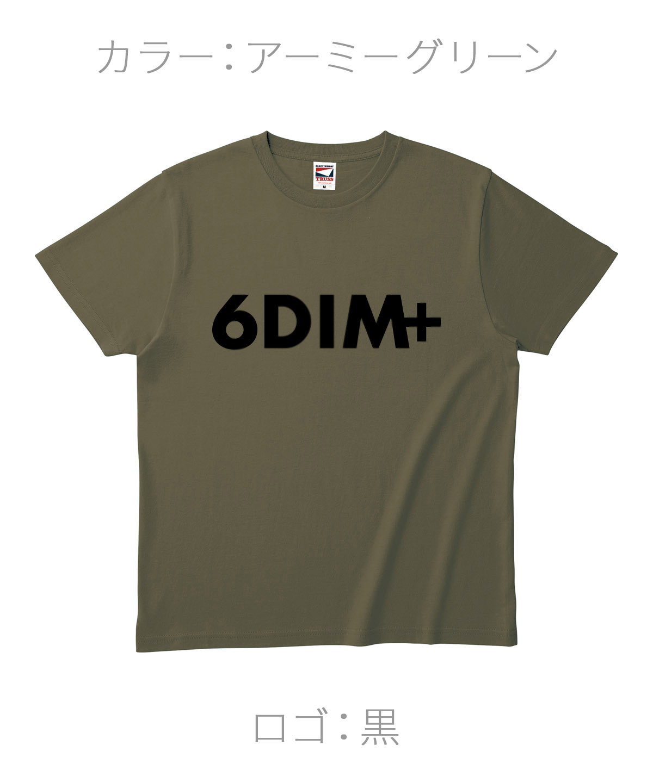 ロクディム|NEW Tシャツ受注生産|カラー:アーミーグリーン/ロゴ:黒
