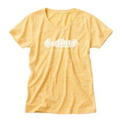 ロクディムTシャツ:アルファベットロゴ・黄