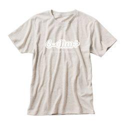 ロクディムTシャツ:アルファベットロゴ・生成り