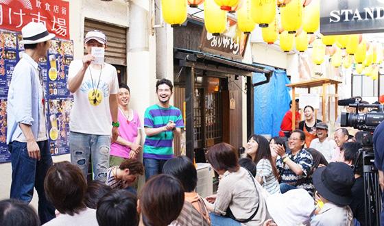 復興飲食店街「夜明け市場」ビアガーデンイベント