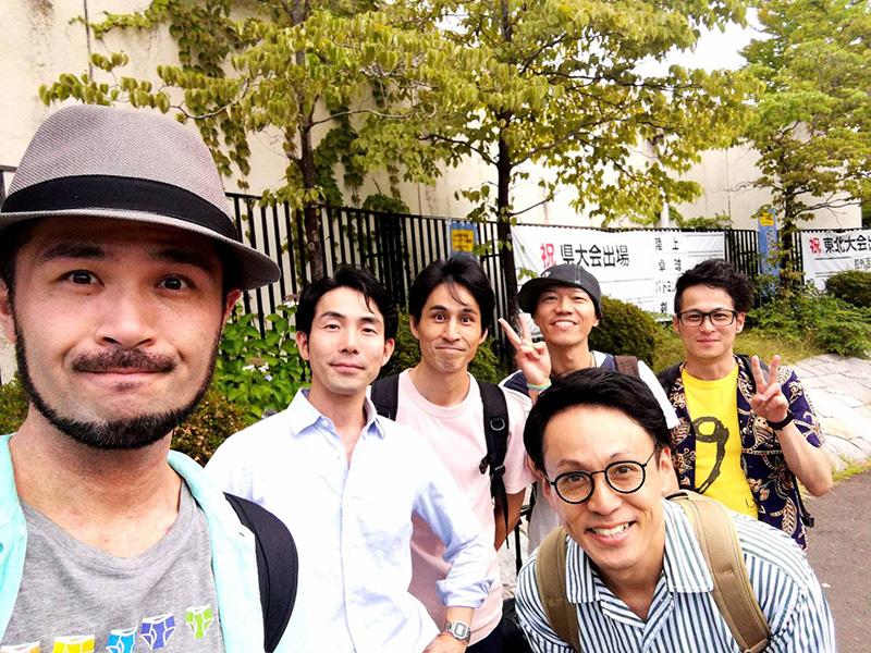 仙台市立仙台青陵中等教育学校でのワークショップを終えたロクディム