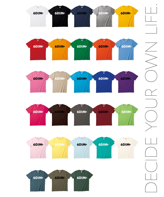 ロクディムグッズ:新Tシャツ受注生産:全28色