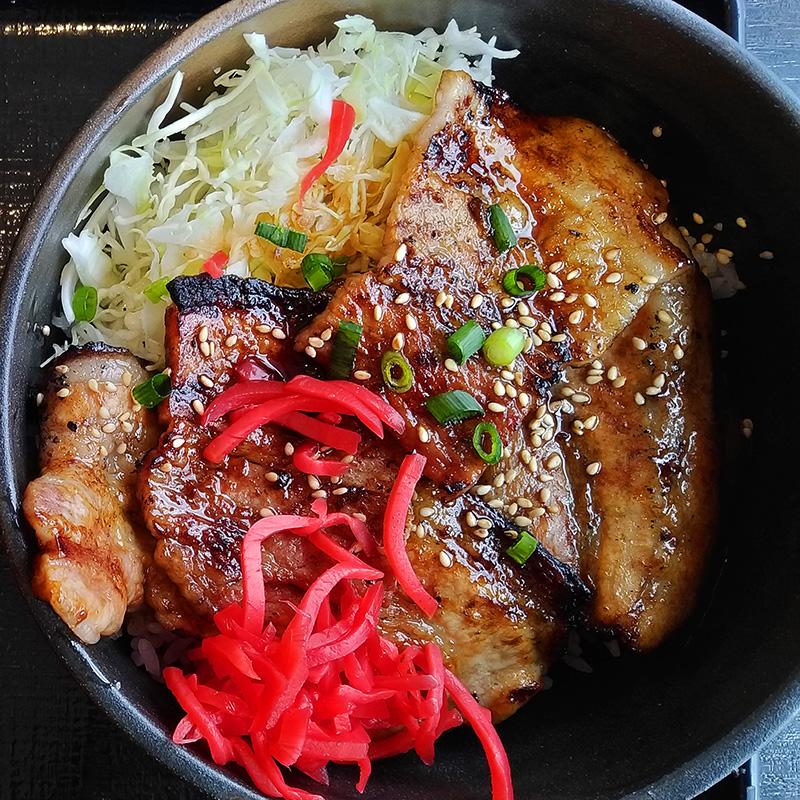 福島県双葉郡楢葉町の豚丼「豚壱」